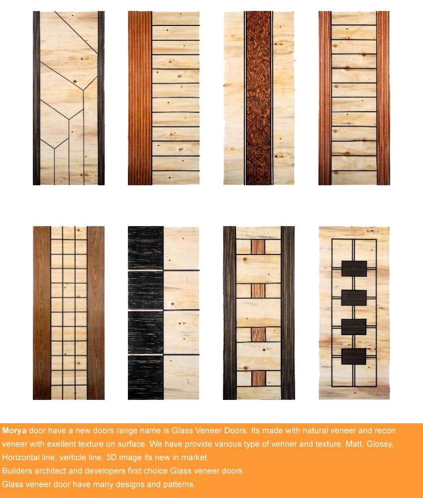 new3 & GLASS VENEER DOORS | Morya Doors